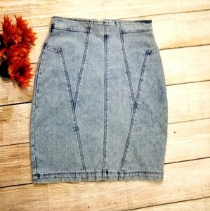 🍂🍂Silence + Noise Stretchy Denim Pencil skirt.